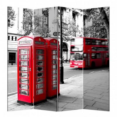 Ширма «Лондон» с полиграфическим рисунком